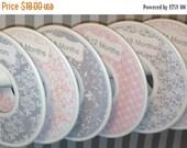 SALE 6 Custom Baby Closet Dividers Organizers Shabby Elegance Soft Pink and Grey CD401 - Custom Baby Closet Clothes Organizers