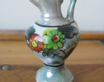 Vintage Miniature Pitcher with Daisy Design