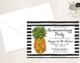PRINTABLE Pineapple Housewarming Party Invitation