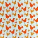 Copenhagen Print Factory Orange Chicken Print Fabric, 100% GOTS Organic Cotton
