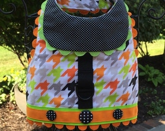 SAMPLE SALE:  Halloween Houndstooth Dog Harness