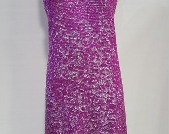 1960's Purple Sequin Dress