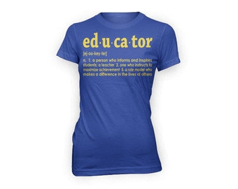 Educator Definition T-shirt (blue/gold)