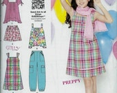 ON SALE Simplicity 1817 Suede Says Girls Cool & Preppy Dress, Top, Pants and Shorts  Pattern, 8-16 UNCUT