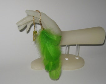 Feather Hair Clip / Feather Hair Accessories / Long/Short/Green/Fun Colors