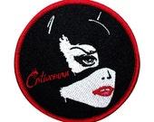 Pop Art Catwoman Patch Batman Rogues Villain DC Comic Girls Iron-On Applique