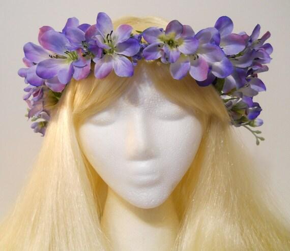 Flower Crown Purple: Lavender Purple Pink Flower Crown Pastel Spring Wedding Vine