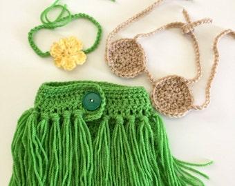 Little Hula Girl Outfit Crochet Pattern