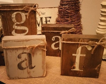 Rustic Letter Blocks
