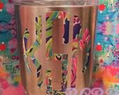 Monogram Vinyl Decal Initials Tumbler Best Seller Birthday Gift Christmas Gift Present Bridesmaid Gift Shower Gift