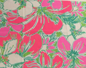 Don't  Give A Cluck cotton poplin    9 x 18 inches or 18 X 18 inches ~Lilly Pulitzer~