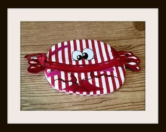 Change Purse, Crab Pouch, Coin Pouch, Change Pouch, Cosmetic Pouch, Paci Pouch, Zippered Pouch