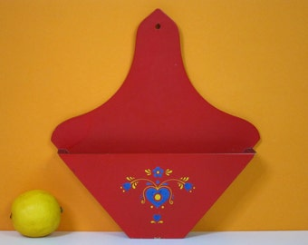Vintage coffee filter holder, red, Dutch 70s kitchen drip coffee musthave