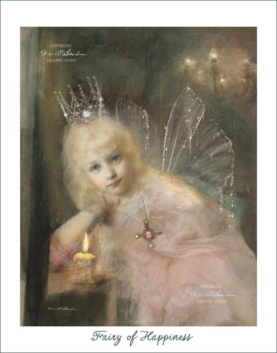 Fairy Art Print  ' The fairy of Happiness' Fairy gift Photography