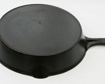 Vintage #9 VOLLRATH x-Lg. Size Cast Iron Skillet with a No. 3 Vollrath Egg Skillet Pan Extra Professionally Cleaned, Organically Seasoned