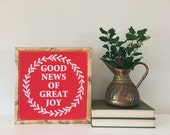 Good News 12x12 Wood Sign