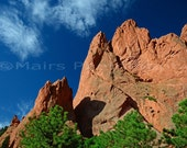 Mountains Rock Formations Colorado Garden of the Gods Travel Wall Decor, Fine Art Photography matted & signed 7x10 Original Photograph