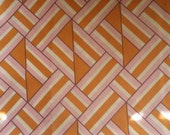 Groovy Geometric Pink & Orange Pillowcase Free Shipping Vintage Linens Bedding Pillow Unbranded