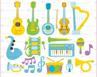 Musical instruments Set 5 ---- Clip Art ---- Personal and Small Commercial Use ---- BB 0513