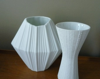 Vintage German Porcelain Vase, Modernist Design, AK Kaiser Germany, Mid Century Decor