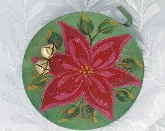 Tin Pointsettia Ornament