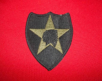 One (1), 2nd. Infantry Division, US Army, Embroidered Cloth Patch.