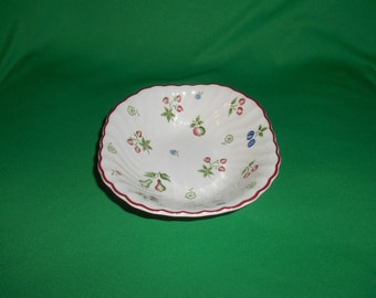 """One (1), 6 1/2"""" Square Cereal Bowl, from Johnson Bros., in the Sweetbriar Pattern."""