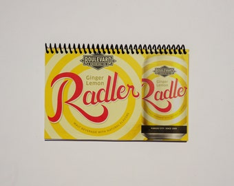 Boulevard Brewing Ginger Lemon Radler Notebook - Upcycled