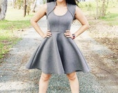 GREY Galactic Scavenger Flared Skirt Dress - With Pockets!
