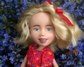 The Red Doll, Drollerie Doll, makeunder repaint rescue ooak doll