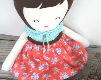 Handmade Cloth Doll, Nursery Decor, Childs Doll, Fabric Doll, Handmade Rag Doll, Custom Doll, Soft Doll, OhSewCuteByMel,
