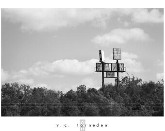 rv park, fine art black & white photographic print