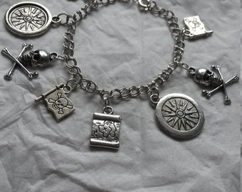 Pieces of Eight - Silver Pirate charm bracelet