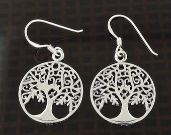 Sterling Silver Celtic Tree of Life Earrings