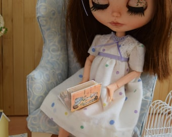 Nightdress and slippers, for pullip and blythe
