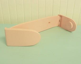 Vintage Pink Plastic Paper Towel Holder Rack Dispenser, Scot Towels Brand - Vintage Travel Trailer and Home Decor