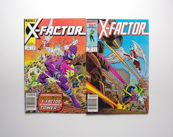Marvel X-Factor Comics - Issues #2 and 3 - X-Men Spin Off Series - Marvel Comics