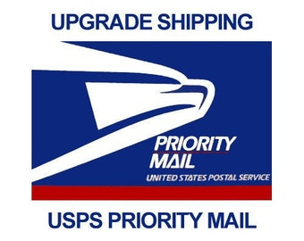 PRIORITY SHIPPING Upgrade (this is NOT rush shipping, this is only a upgrade from first class/stamp mail)