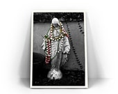 Color Splash Virgin Mary, Madonna, Fine Art Photography, New Orleans Print, Mardi Gras, Black and White, Selective Color, Religious Wall Art