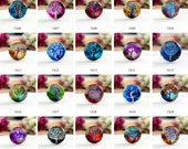 10pcs (10mm\12mm\14mm\15mm) 4pcs (16mm\18m\20mm\25mm) 2pcs (30mm\35mm\40mm) Handmade Photo Glass Cabs Cabochons--Tree of Life