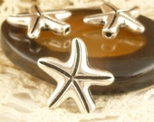 Starfish Spacer Beads, Antique Silver (8) - SF47