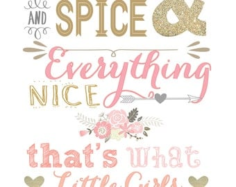 Sugar and Spice and Everything Nice 8x10 print