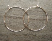 NEW Large gold hoop earrings - modern minimalist earrings, simple gold hoops