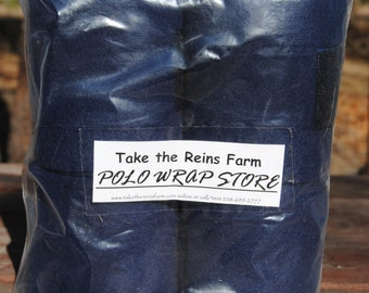 See *Take the Reins Farm* Polo Wrap Store here!  Horse polo leg wraps NAVY BLUE color