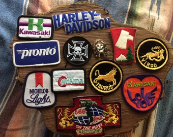 Vintage set of one dozen assorted patches