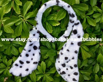 Comfortable Faux Fur Dalmatian Dog Ears Headband Halloween Costume - Dalmatian Costume - Dalmatian Ears - Dog Party - NEXT DAY SHIPPING