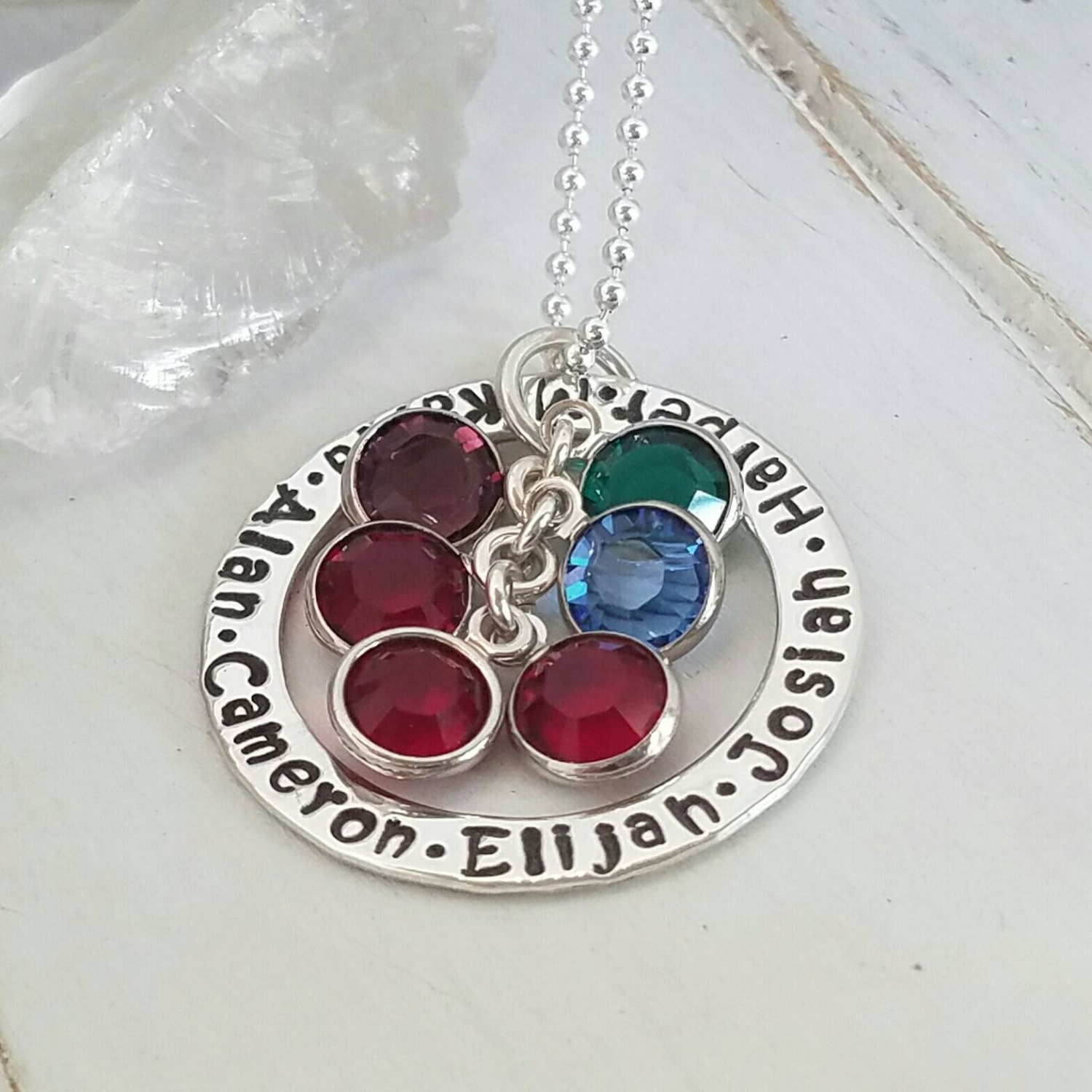 Personalized grandmother necklace 6 name by everythinginitials for Grandmother jewelry you can add to
