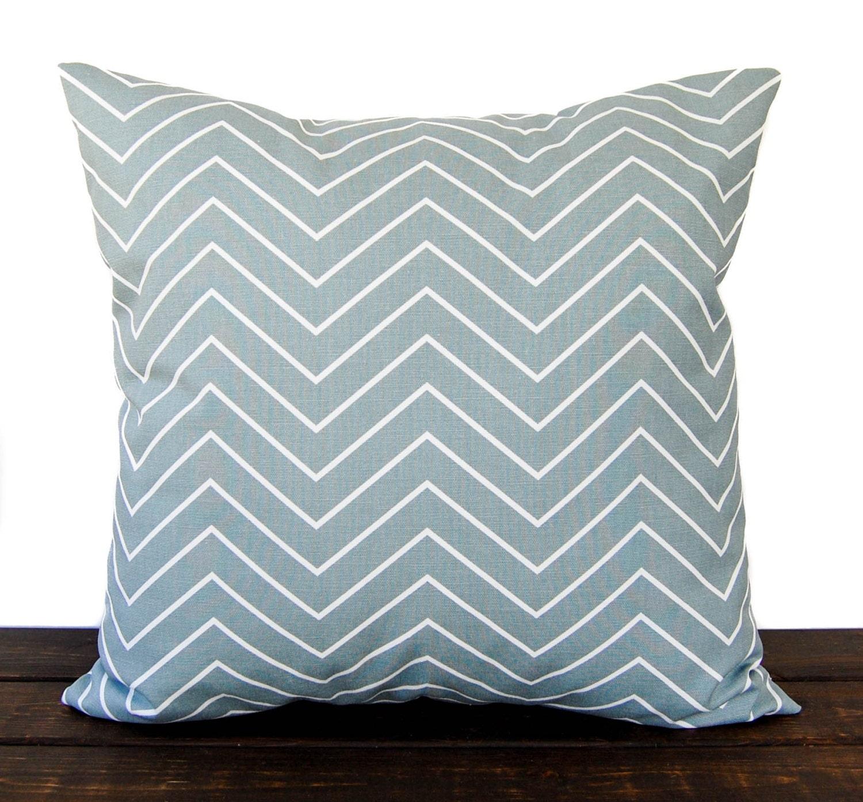 Throw Pillow Light Blue : Throw pillow cover Chevron Vintage light blue cushion cover