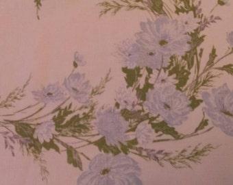 Vintage 1940s Tablecloth Linen Textile Floral