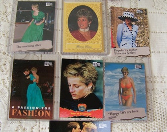 Vintage Princess Diana Cards.1993 Commemorative Cards.Princess Diana Collectibles.Press Pass Diana Cards.Royal Family.Free Shipping U.S.